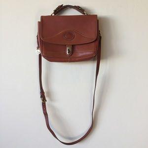 Dooney & Bourke Vintage Brown Leather Satchel